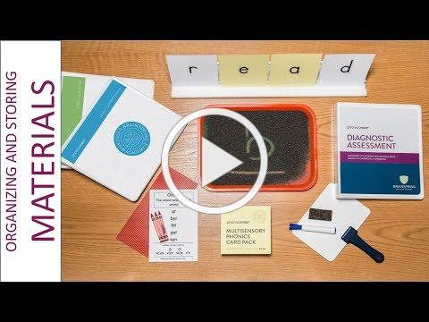 Helpful Hints: Storing and Organizing your Phonics First and Structures Materials