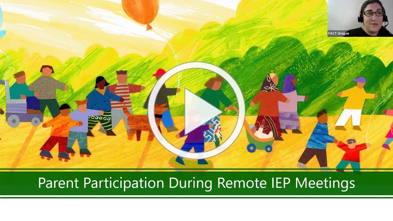 Parent Participation during Remote IEP Meetings
