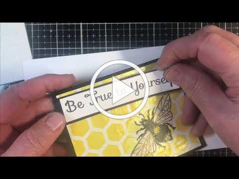 Translucent Honeycomb Stenciled Card