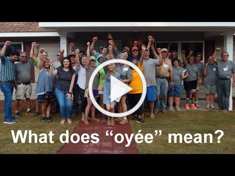 Oyée - a simple little multipurpose word of affirmation
