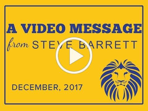 December Message from Mr Barrett