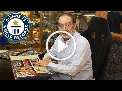 Largest collection of car stamps - Guinness World Records Day 2018