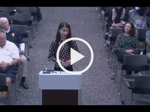 Anastacia Stoyanov speaks to City Council on 8-30-2021