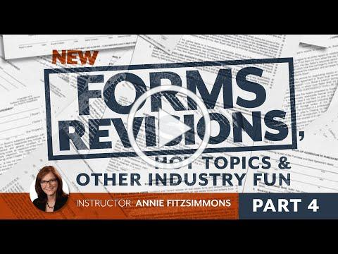 Forms Revisions, Part 4: Agency Disclosure Provision