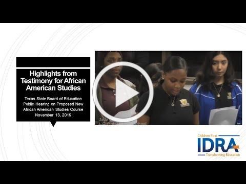 Students Testify for African American Studies 2019