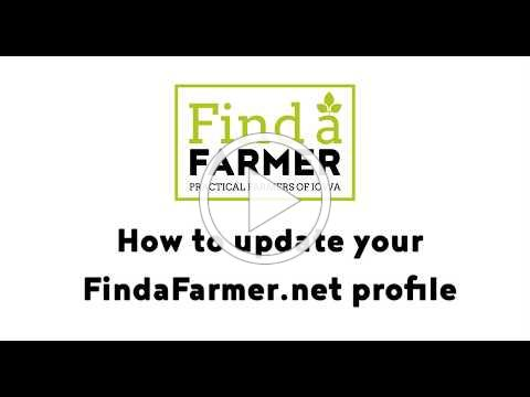 Creating a Profile on FindAFarmer.net
