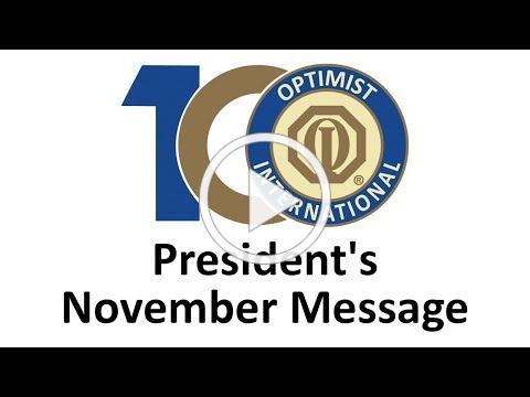 November Message