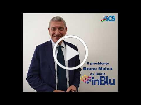 Il presidente AiCS Bruno Molea a Radio In Blu