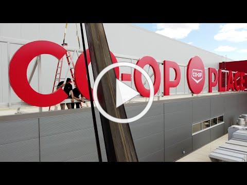 Co-op Place Sign Unveiling