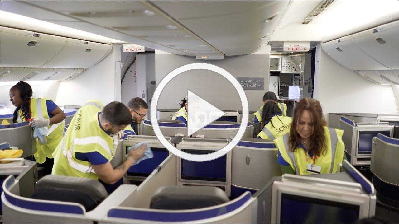 United - Onboard Cleaning Procedures to Keep Customers and Employees Safe