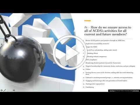 Presentation of 2020 ACDA ADEI survey results by Dr. Antonio Cuyler