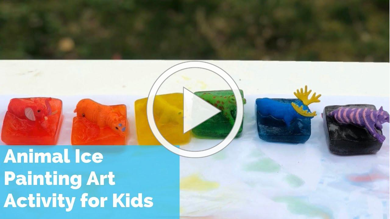 Fun Kids Art Activity | Animal Ice Painting Art Activity For Kids | Process Art For Toddlers Pre-K