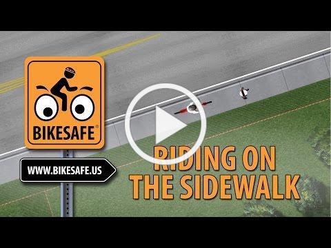 Riding Safely on Sidewalks   BikeSafe
