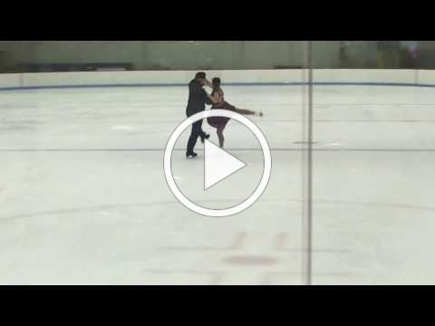 OLMA sophomore, Savannah Bar, Ice Dancing