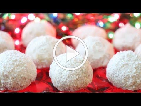 Easy Christmas Snowballs - Pecan Balls - So Easy, ANYONE Can Make These