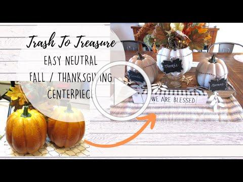 Neutral Fall Centerpiece | TRASH TO TREASURE | DIY Garland | Thanksgiving Decor | Cupshe Try On