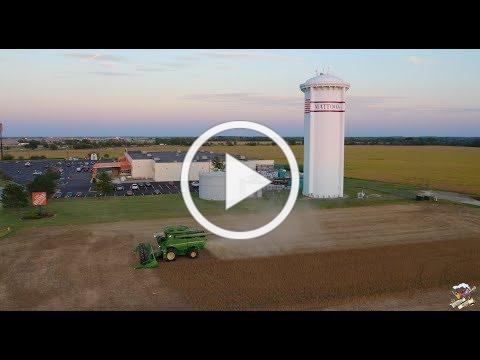 FIRST 2019 Soybean Harvest Video - Mattoon Illinois