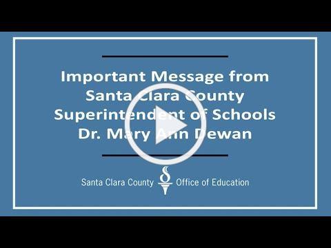 SCCOE Superintendent of School message