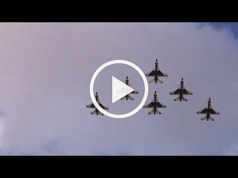 Air Force Thunderbirds Buda Flyover