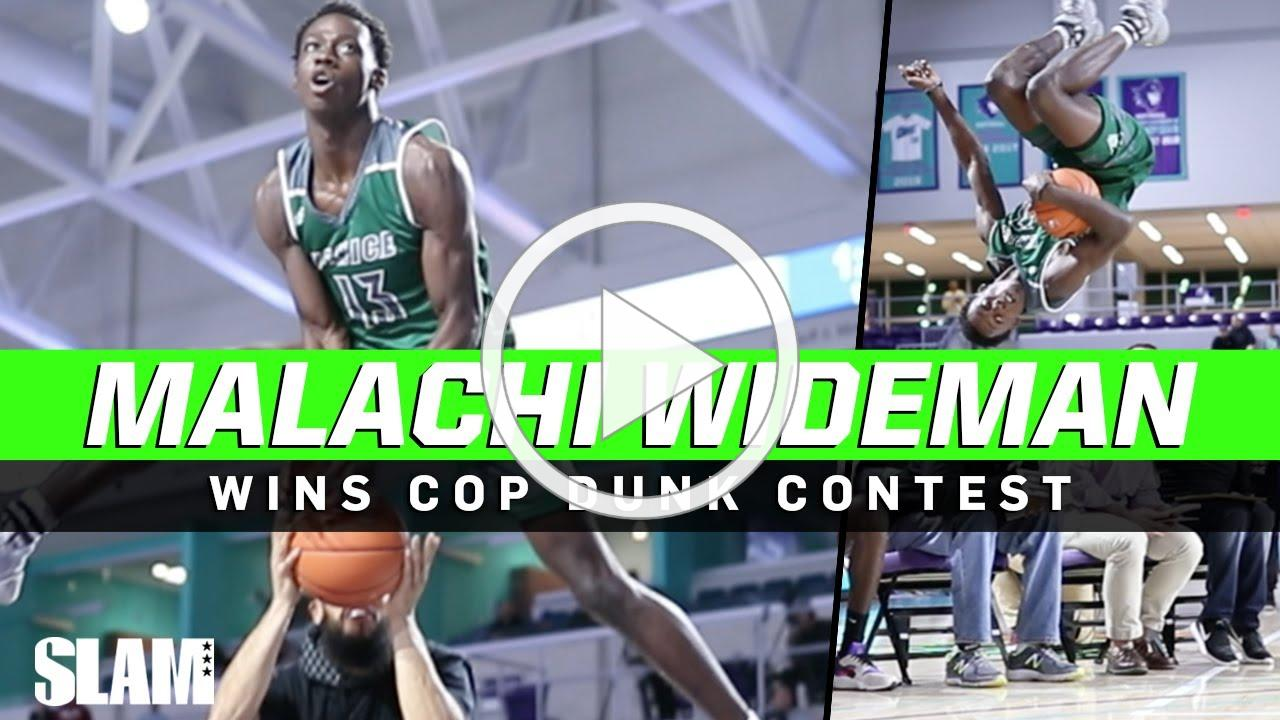 HEATED Dunk Contest!? Malachi Wideman takes FLIGHT at City of Palms 🚀