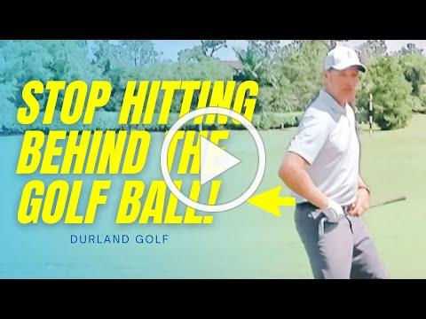 GOLF TIP | How To Stop Hitting Behind The Golf Ball In Golf