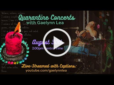 Gaelynn Lea Live-Streamed Concert with Captions - Sunday, August 30th @ 2pm CDT!