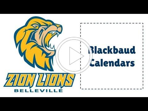 Blackbaud Tutorial Calendars