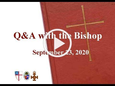 Bishop's Wednesday Message 9 23 20