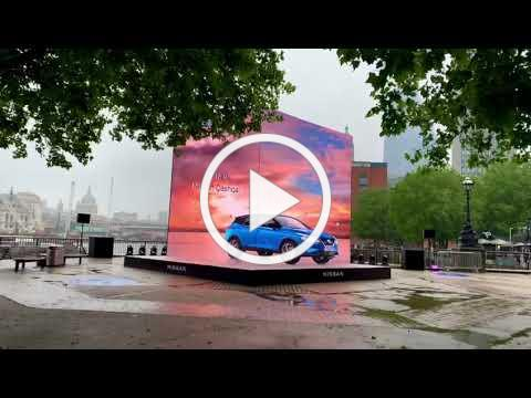 All-New Nissan Qashqai: 3D spectacle on London Southbank