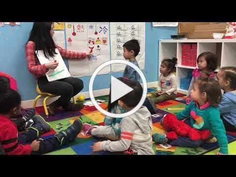 SWAN Preschool Ladybug Class learning about winter wardrobes