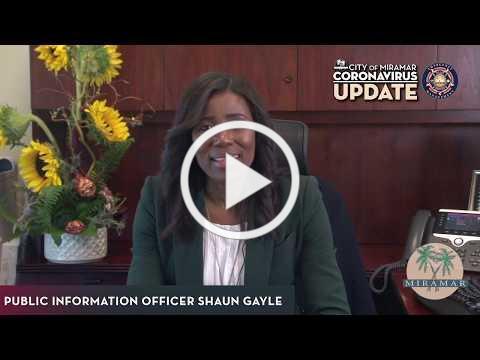 COVID-19 Update | PIO Shaun Gayle 01
