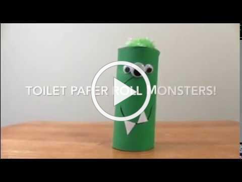 Toilet Paper Roll Monster