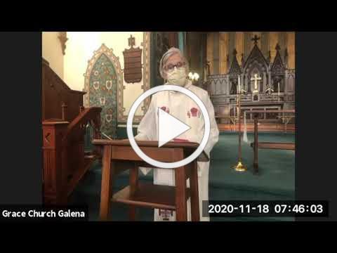 Grace Galena Wednesday Service 11 18 2020