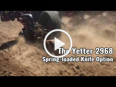 The Yetter 2968 Spring Loaded Knife Option