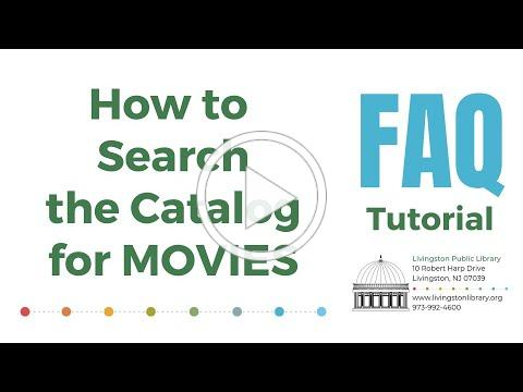 FAQ - How to Search the Catalog for Movies