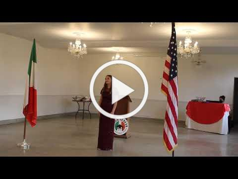 2020 Casa Italia Vocal Scholarship - Raimondi Scholarship Winner - November, 8, 2020, Video 2