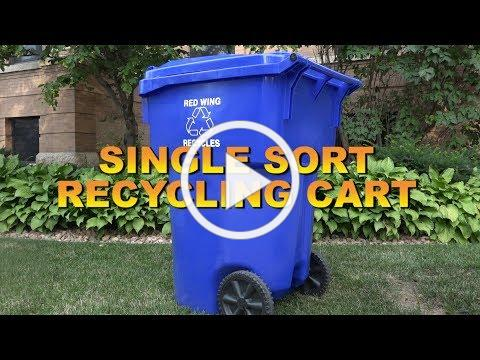 Introducing: Single-sort Recycling Cart!