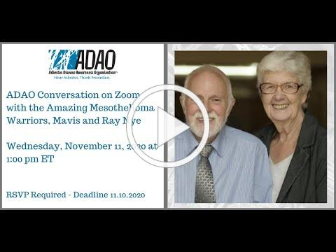 Zoom Conversation with Mesothelioma Warriors Mavis and Ray Nye