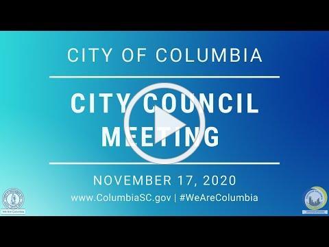 City Council Meeting   November 17, 2020
