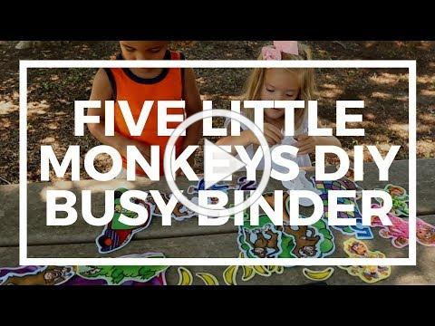Five Little Monkeys DIY Busy Binder | Kaplan Early Learning Company