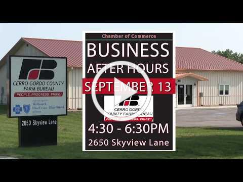 Business After Hours hosted by Cerro Gordo County Farm Bureau