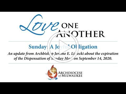 Archdiocese of Milwaukee - Dispensation Message from Archbishop Listecki