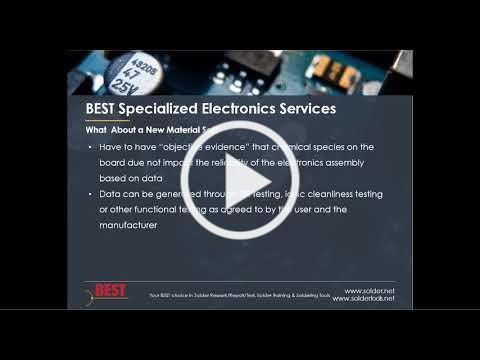 J-STD-001H Section 8 Cleanliness and Residue Testing
