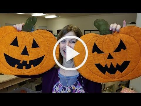 Halloween Jack O' Lantern Pumpkin Placemats