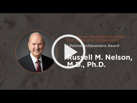 Russell M Nelson 2018 Governor's Medal for Science and Technology
