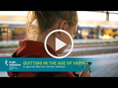 Quitting in the Age of Vaping