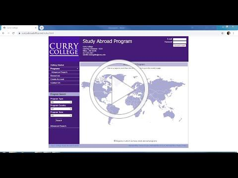 Curry Study Away Application Process