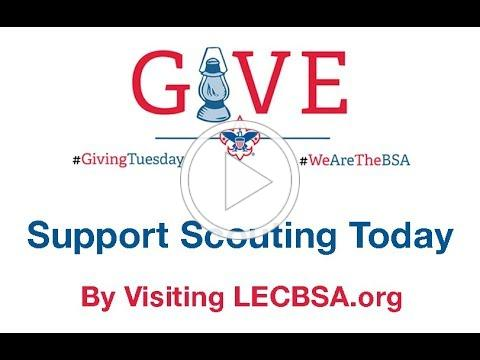 Support Scouts this #GivingTuesday