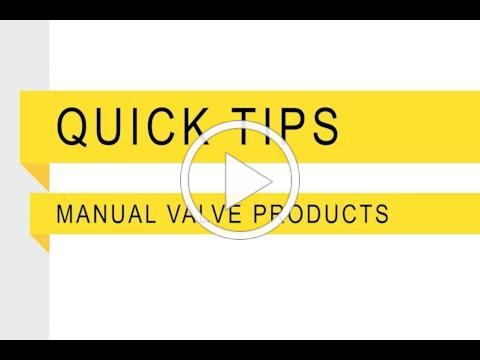 Banjo Quick Tip Manual Valve Products