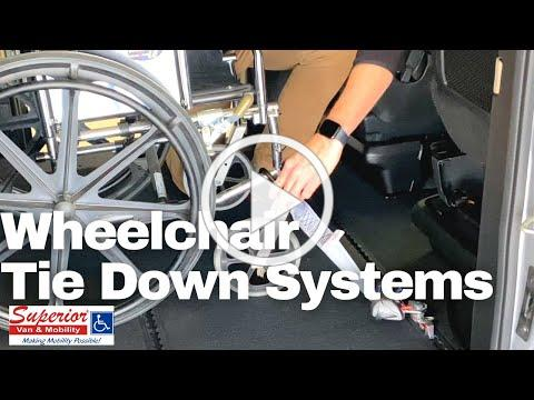 How To Use Wheelchair, Tie-Down, Securement Systems In Wheelchair Accessible Vehicles